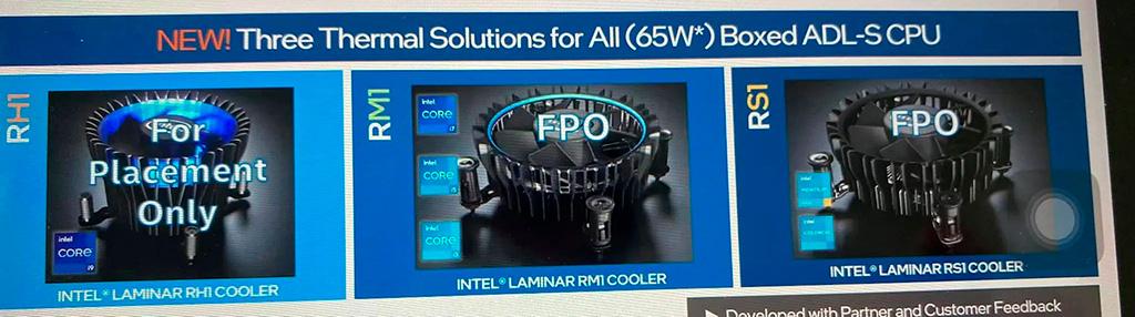 Процессоры Intel Core 12-го поколения получат новые BOX-кулеры Laminar