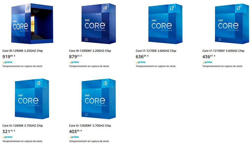 Изучаем цены процессоров Intel Core 12-го поколения